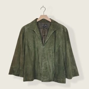 Lafayette 148 Suede 100% Buttery Soft Leather Coat